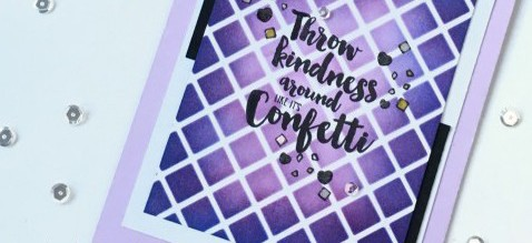 Stenciled Kindness Card