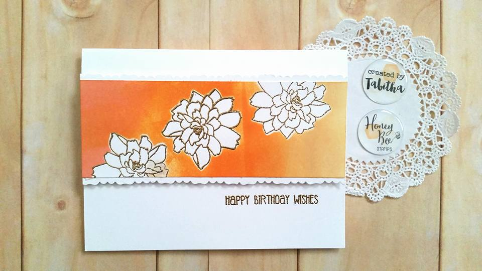 Negative Space Coloring Birthday Card