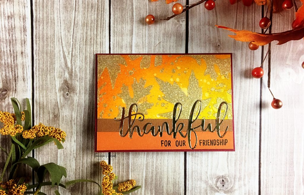 Thankful | Inlay die cut card with Taniesa.