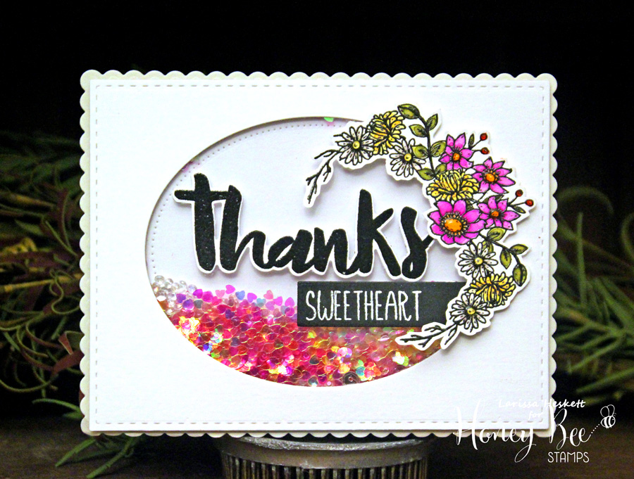 Thanks Sweetheart Shaker Card!!