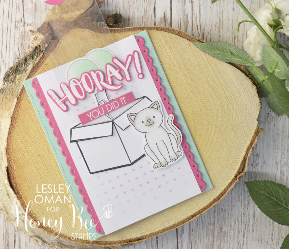 You Did It – Balloons-in-a-box Slider Card!