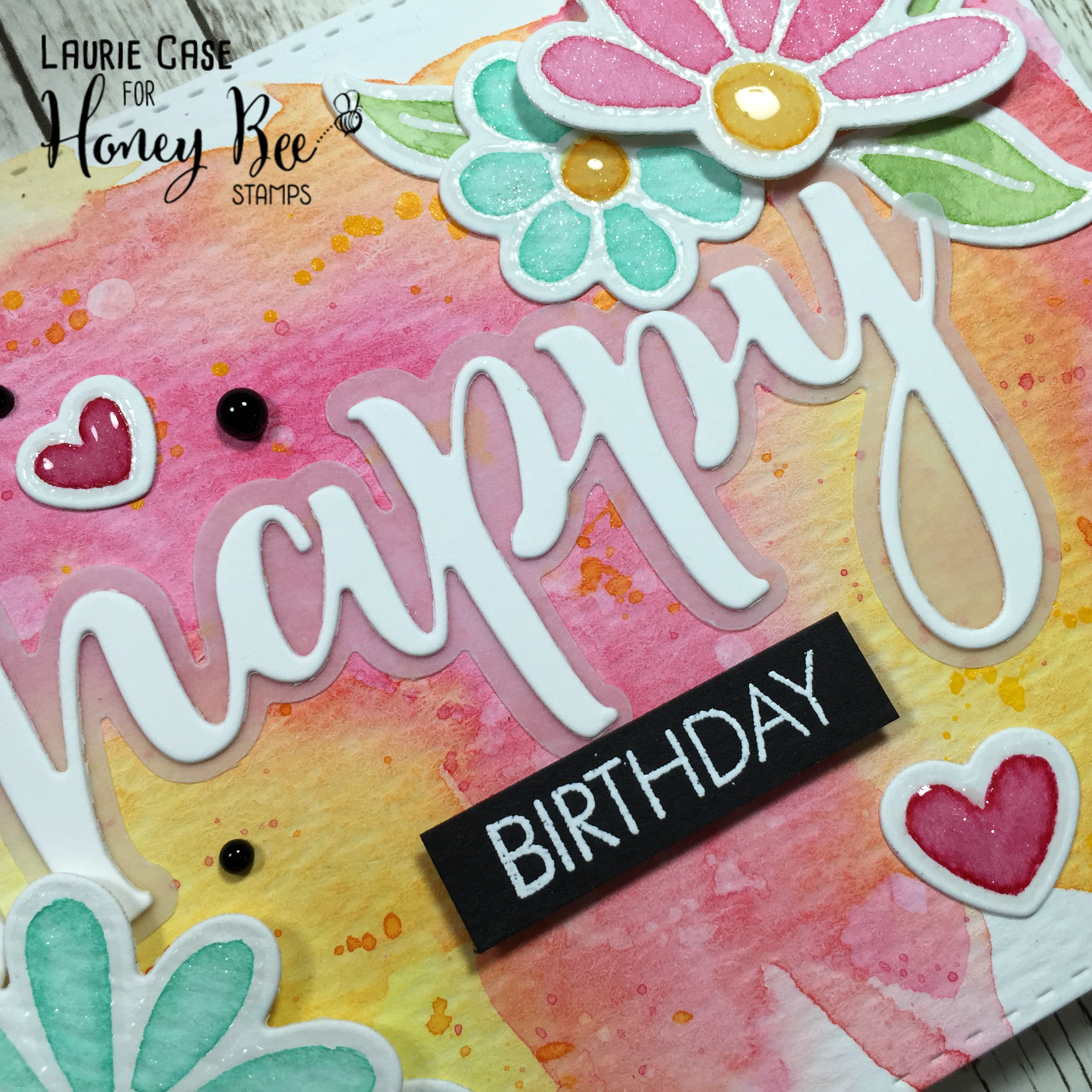 Birthday Card with Gansai Tambi Watercolours