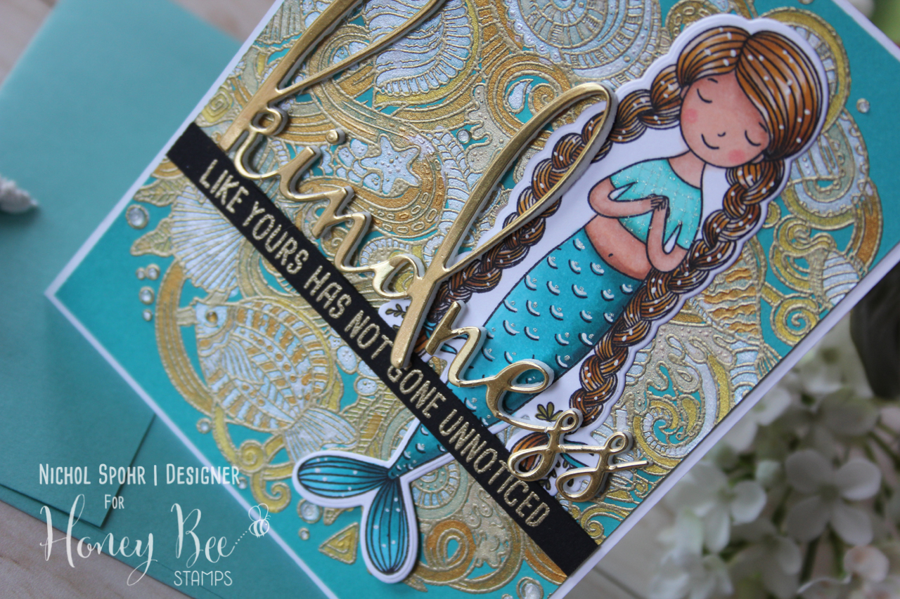 Metallic Kindness Mermaid Card