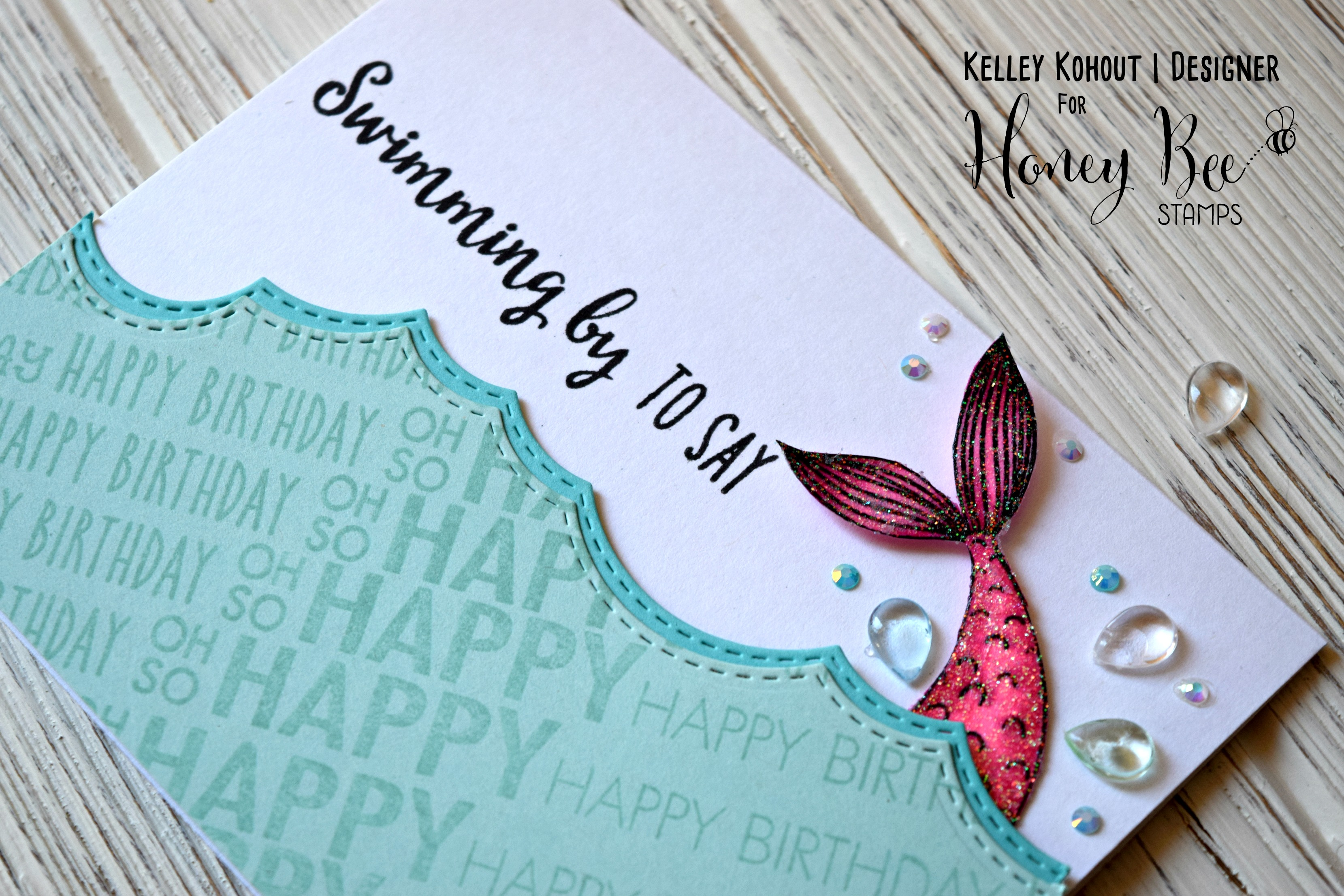 Make a splash! Use lots of your sentiment stamps!