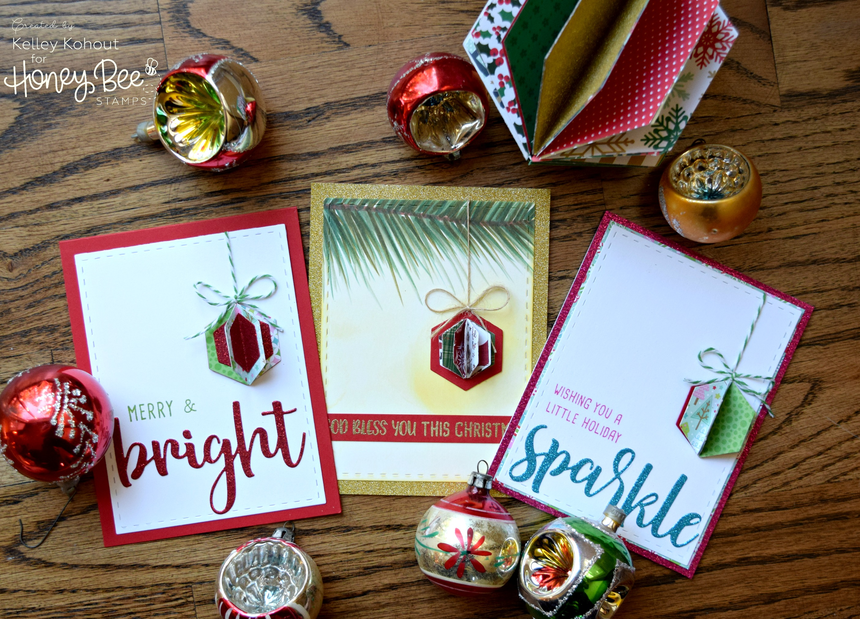 Use your Hex Dies to make Christmas Ornaments – Honey Bee Stamps