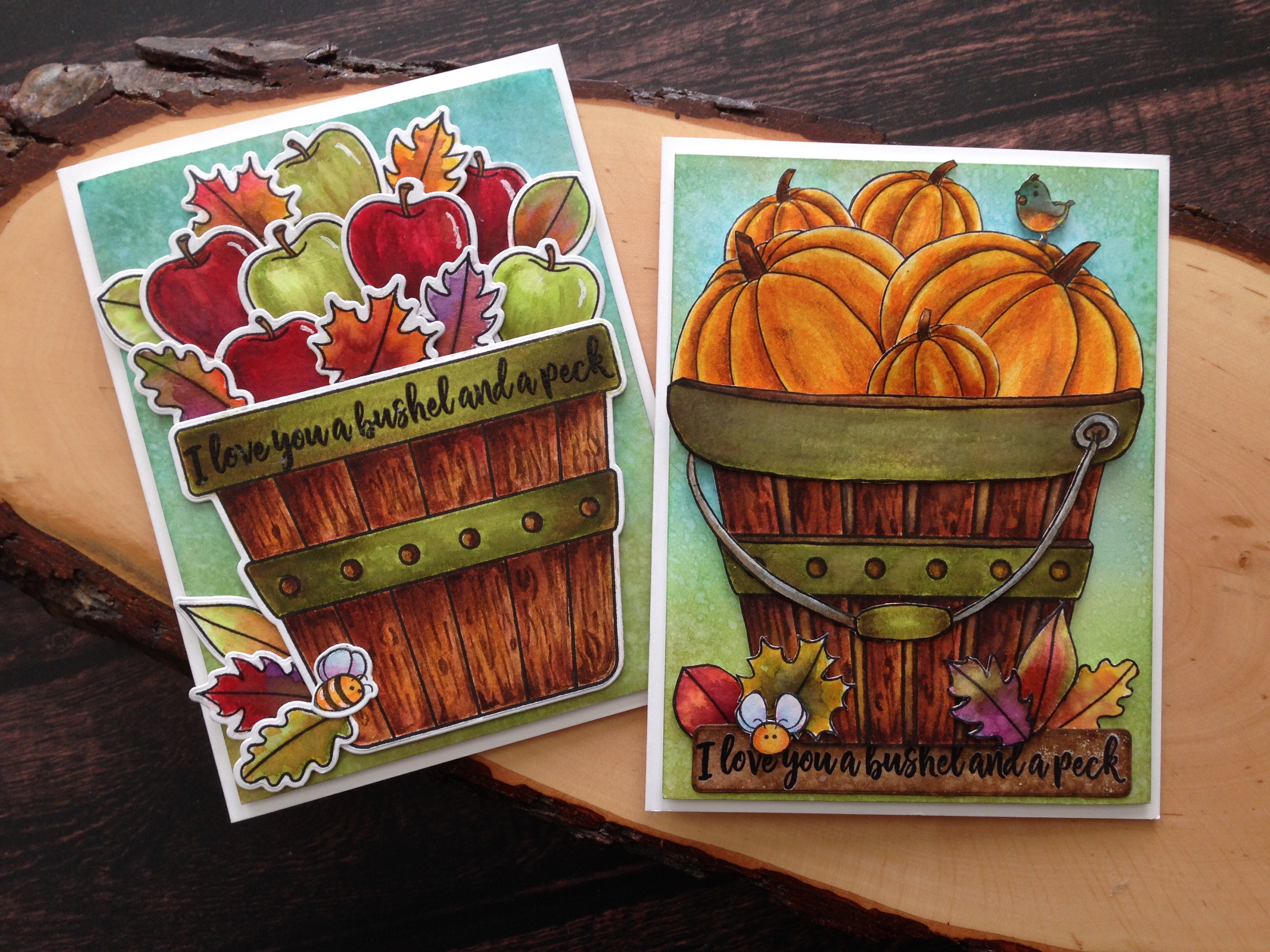Creative Sunday with Jo Ann: Bushel and A Peck – One Stamp…Two Ways.