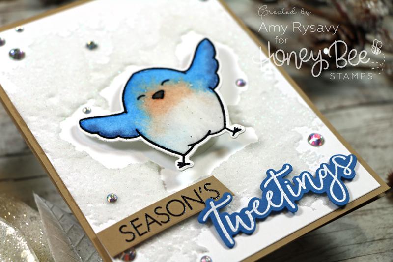 Snow Birds Action Wobble Card with Amy Rysavy