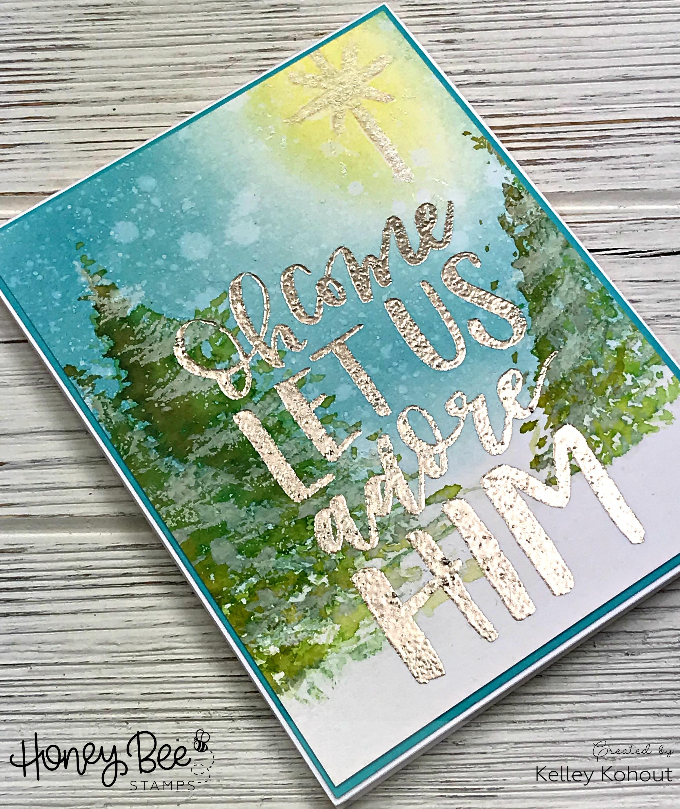Adore Him!! Winter Scene Card