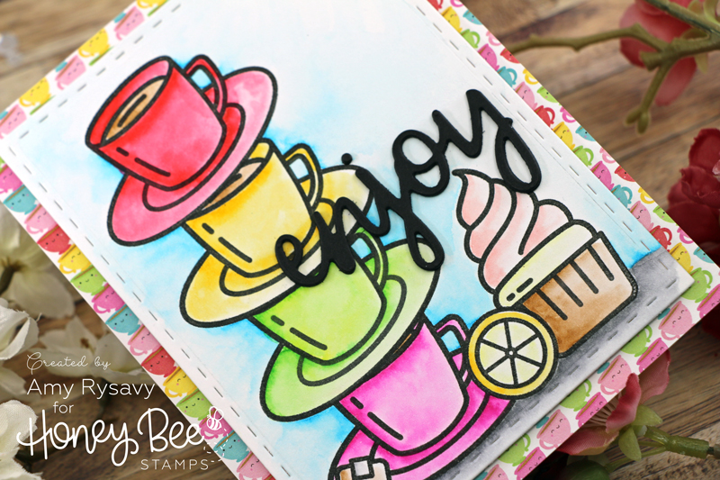 Tea Time Stacked Mugs Card with Amy Rysavy