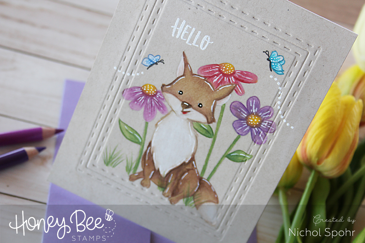 One Layer No Line Coloring with Colored Pencils – Honey Bee Stamps