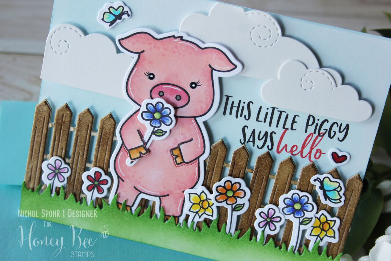 Pinky the Pig Hello Card