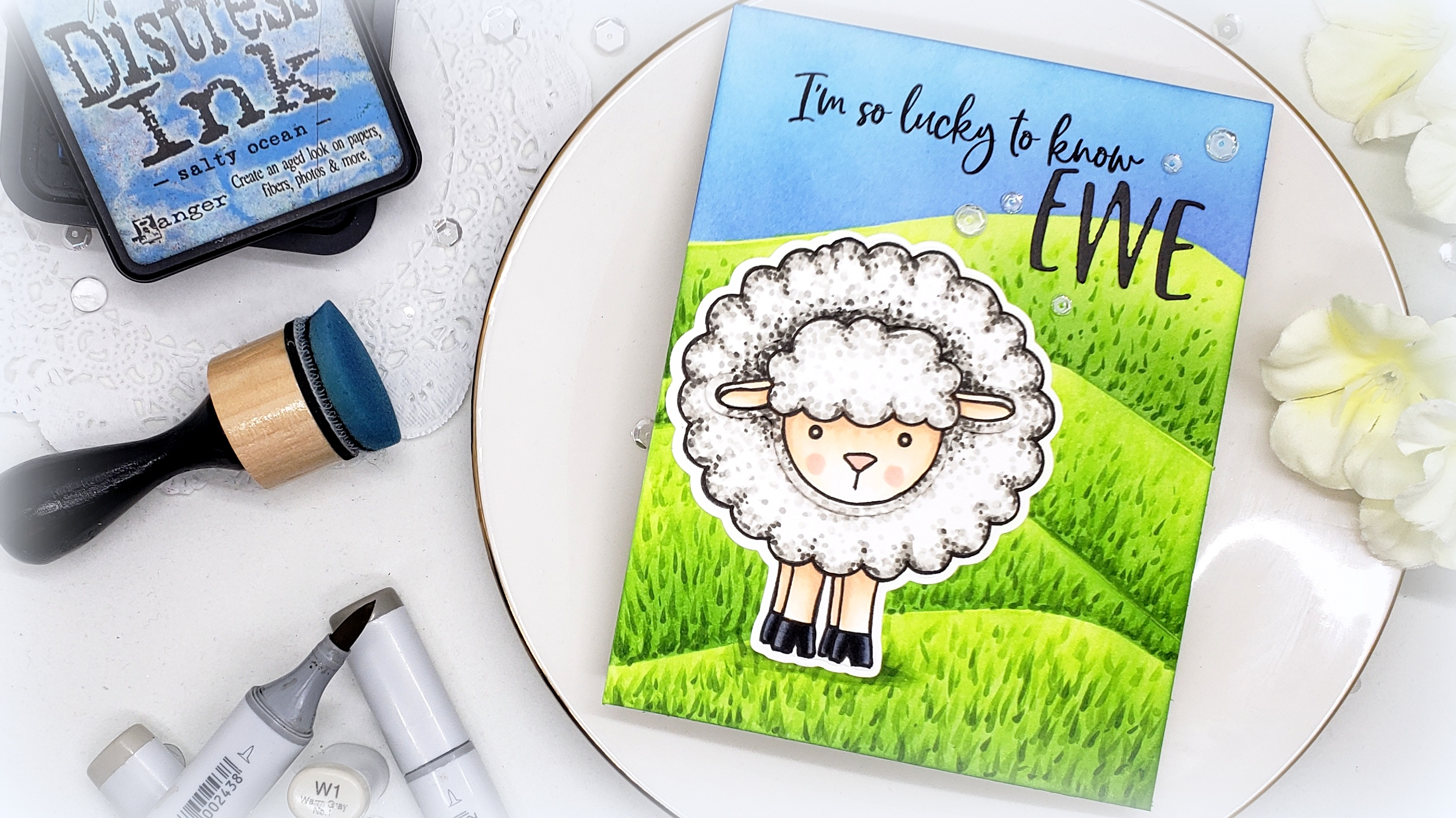 Lily the Lamb: Stippling Technique with Kelly Latevola