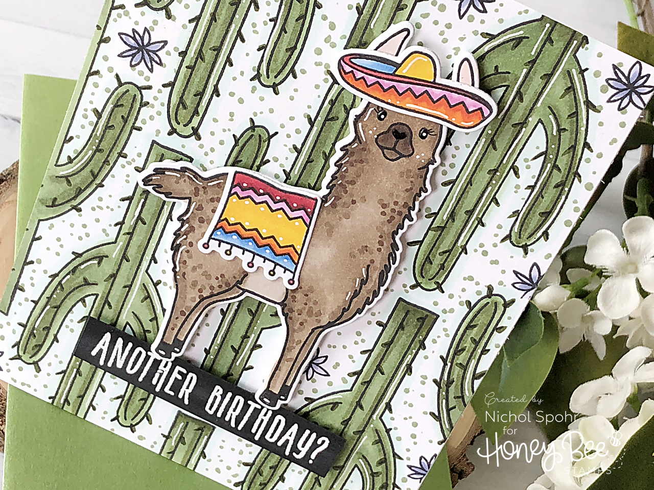 No Probllama Birthday Card with Nichol Spohr