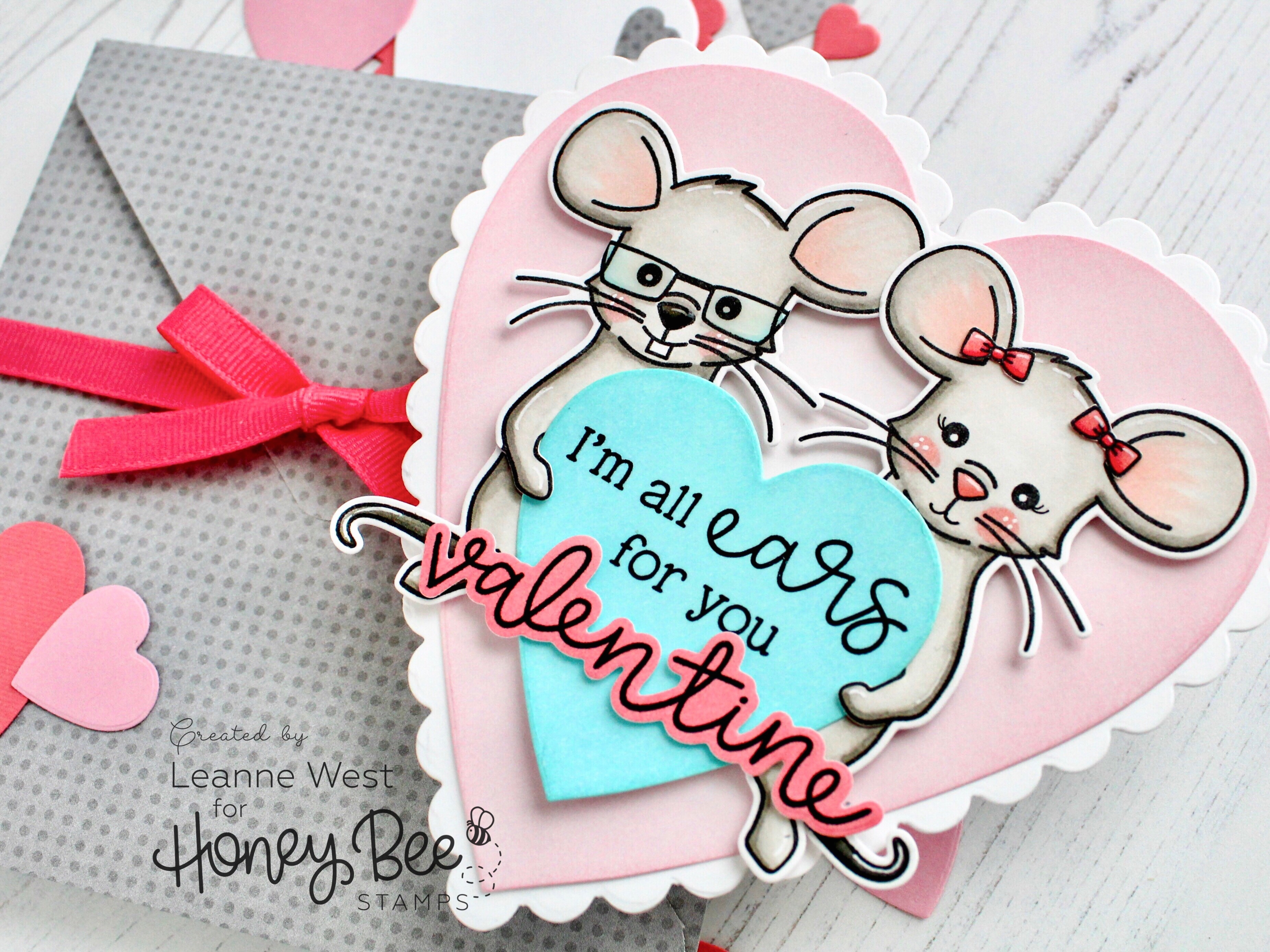 Scalloped Heart Valentine Card