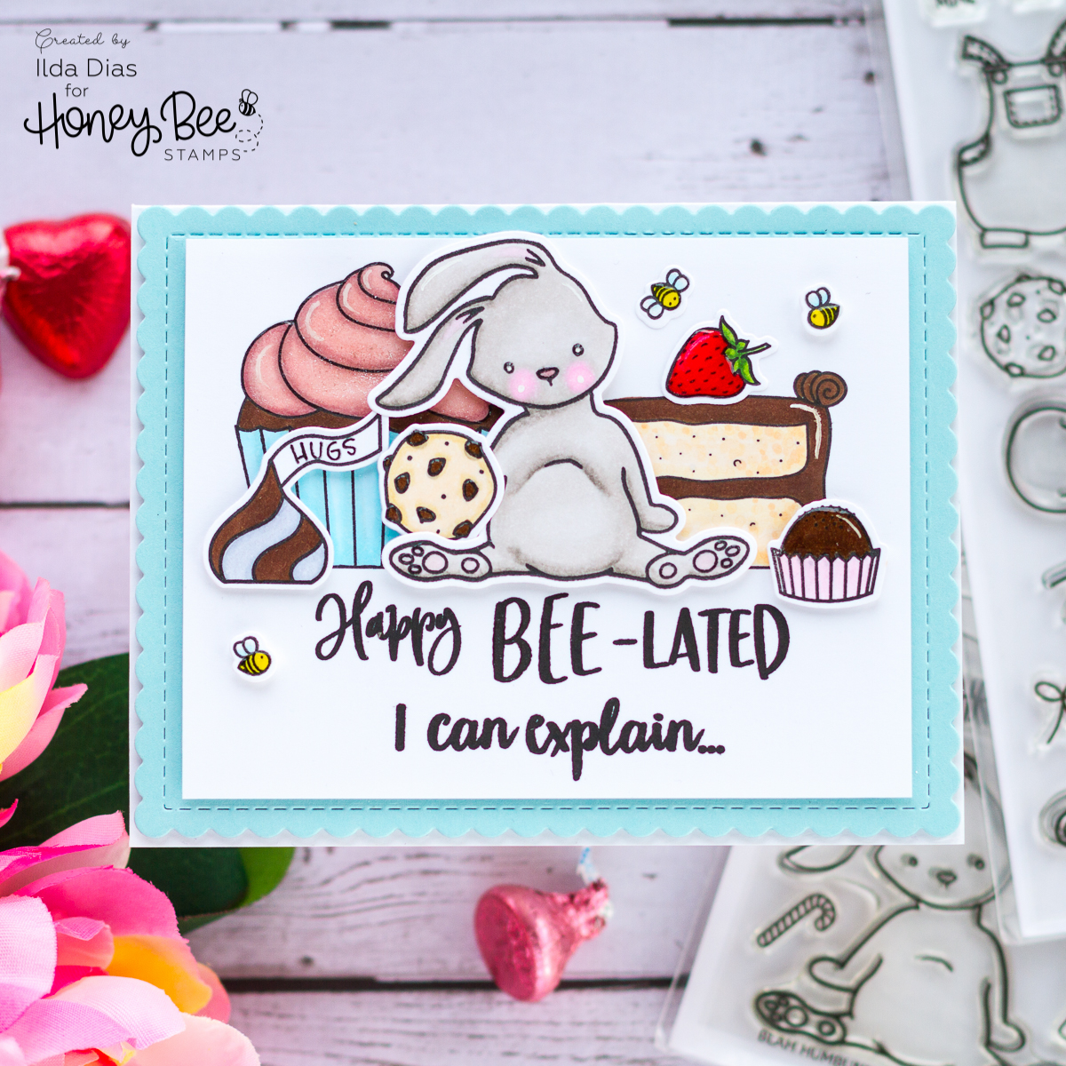 A Sweet Happy Bee-lated Birthday Card