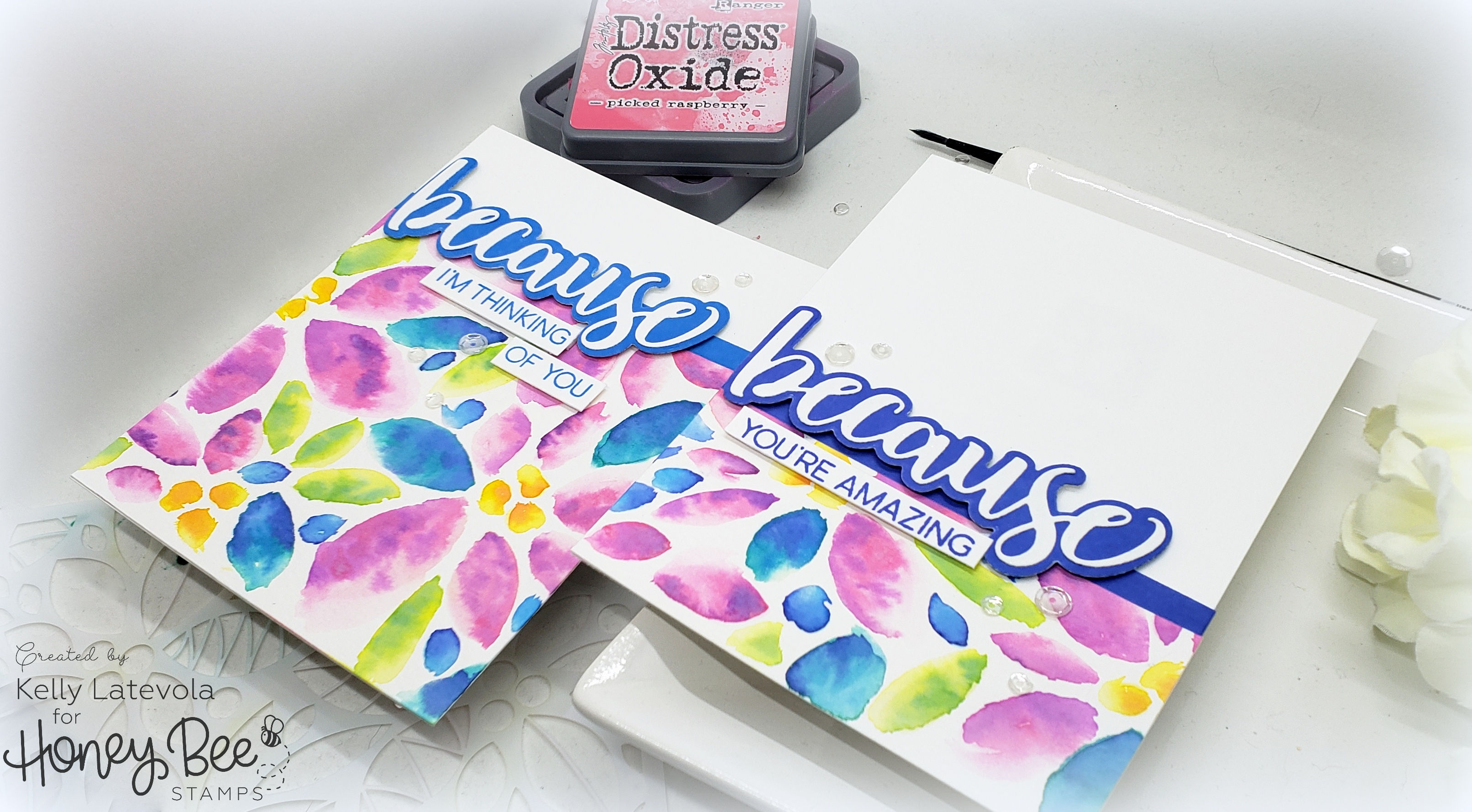 Easy No-Line Watercolor using Distress Oxides with Kelly Latevola