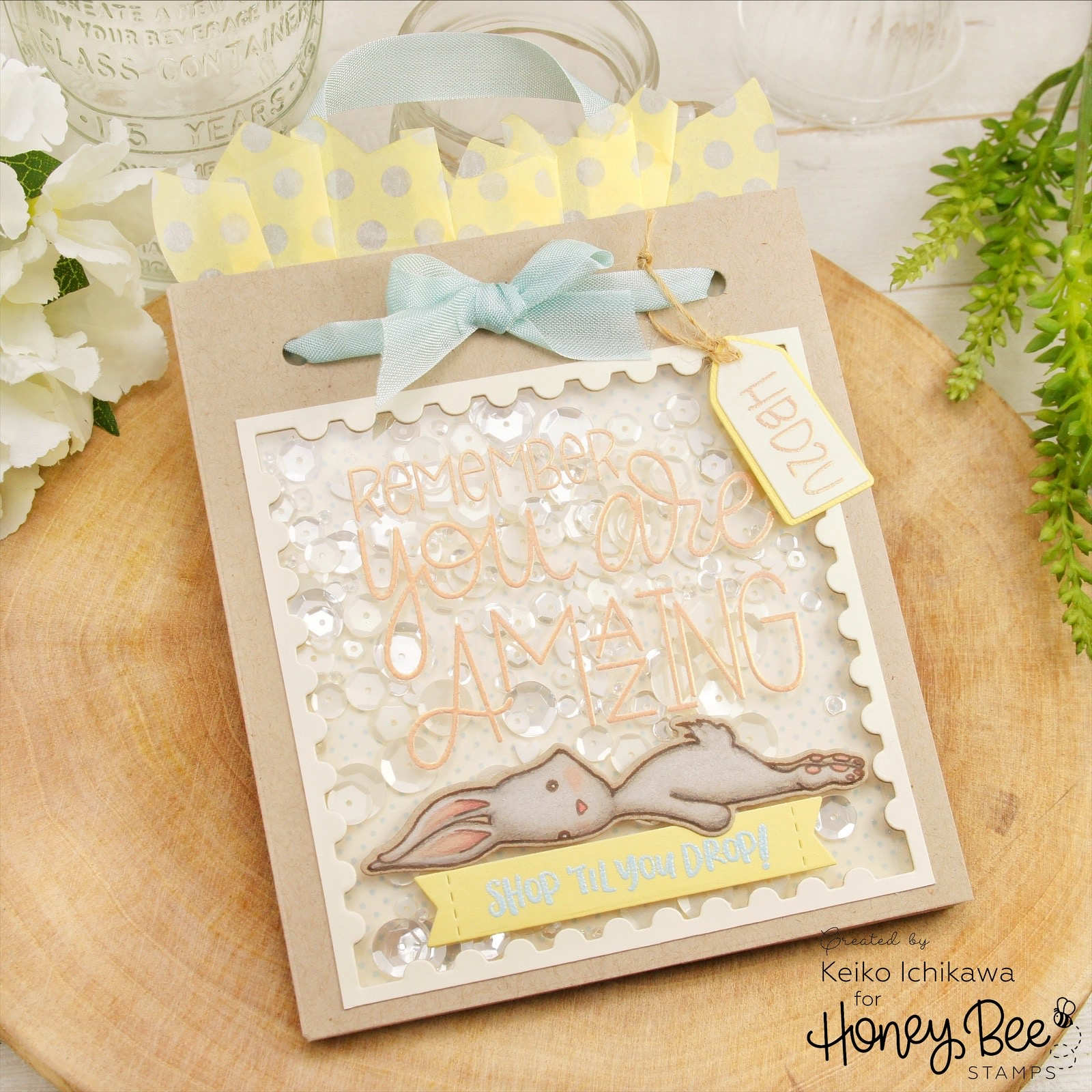 Gift Bag Shaker Birthday Card