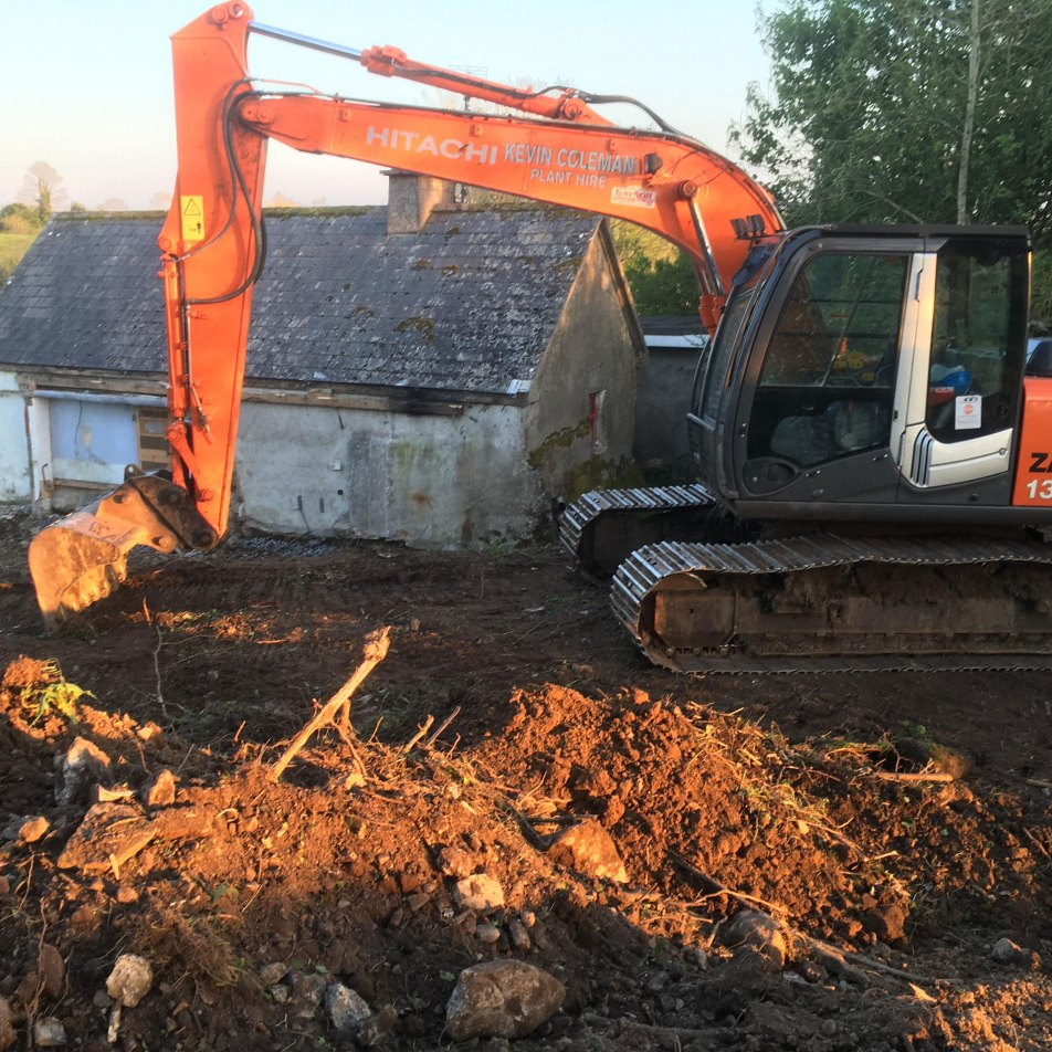 Image of digger in garden