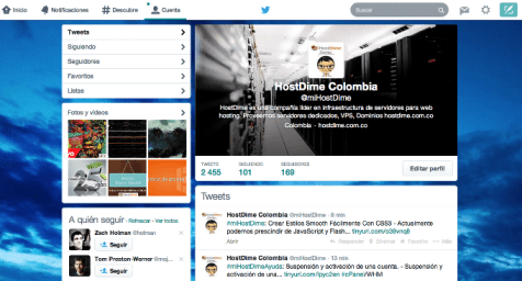 antiguo perfil twitter