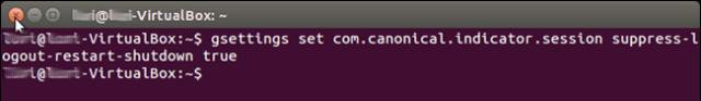 comando para desactivar la confirmacion de cierre o apagado ubuntu