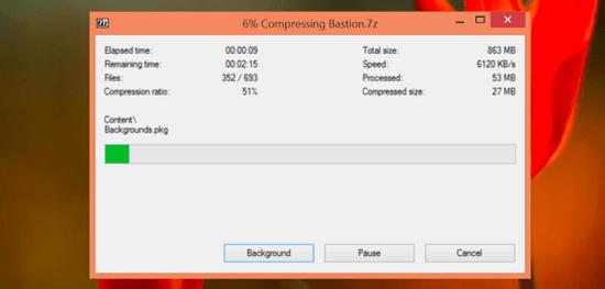 comprimir archivos con 7z