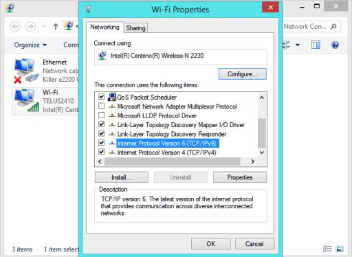 desactivar ipv6 en windows