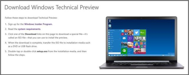descargar windows 10 technical preview