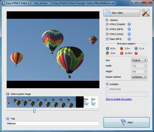 easy html5 video converter