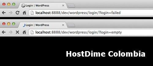 mensaje acceso wordpress