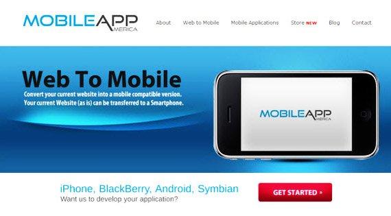 mobile app america sitio web a aplicacion movil