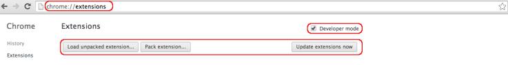 modo desarrollador google chrome extension