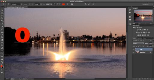 primera letra efecto imagenes photoshop