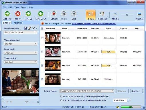 sothink free video converter html5