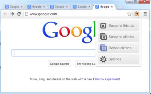 the great suspender para google chrome