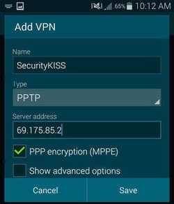 usar VPS en android