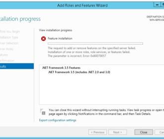 How to Install .NET Framework 3.5 on Windows Server 2012 R2