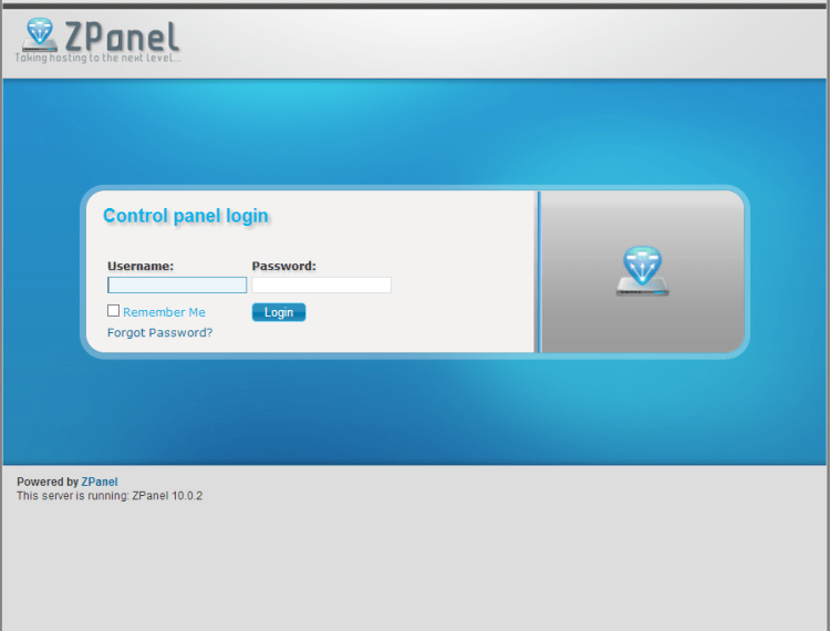 screenshot_Zpanel Login