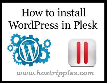 install WordPress on Plesk