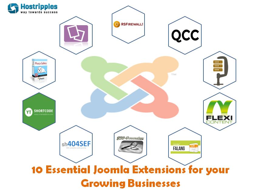Joomla, 10 Essential Joomla! Extensions for your Growing Businesses, Hostripples Web Hosting