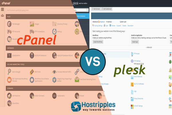 cPanel Vs. Plesk, Hostripples Web Hosting