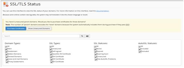 , Managing SSL/TLS Status in cPanel – Hostripples, Hostripples Web Hosting