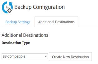 S3 – Compatible Backup Destination in WHM, Hostripples Web Hosting