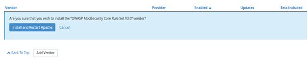 ModSecurity Vendors, Hostripples Web Hosting