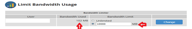 Limiting and Viewing the Bandwidth Usage in WHM, Hostripples Web Hosting