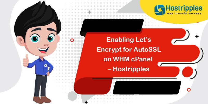 Enabling Let's Encrypt for AutoSSL on WHM cPanel – Hostripples, Hostripples Web Hosting