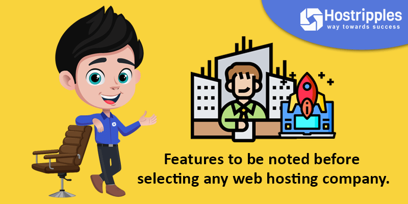 Features to be noted before selecting any web hosting company., Hostripples Web Hosting