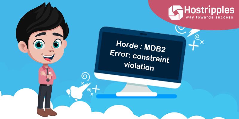 Horde : MDB2 Error: constraint violation, Hostripples Web Hosting