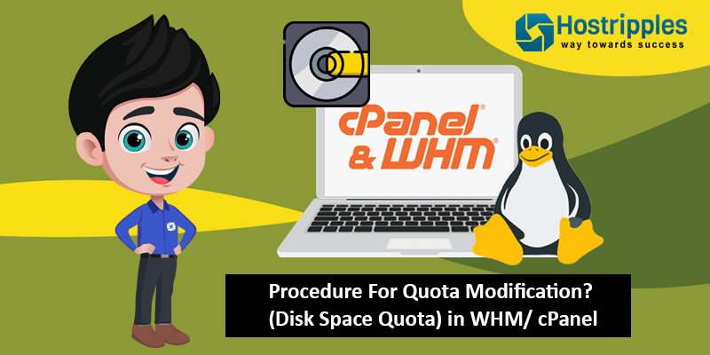 Procedure For Quota Modification? (Disk Space Quota) in WHM/ cPanel, Hostripples Web Hosting
