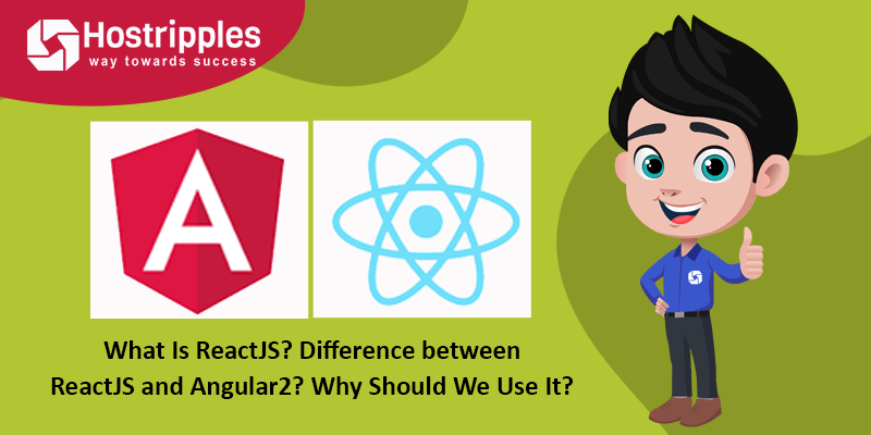 What is ReactJS?, What Is ReactJS? Difference between ReactJS and Angular2?, Hostripples Web Hosting