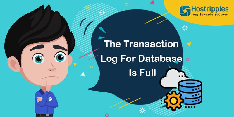 The Transaction Log For Database Is Full